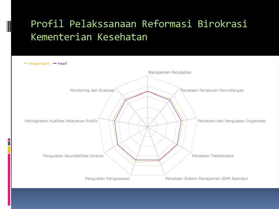 Profil Pelakssanaan Reformasi Birokrasi Kementerian Kesehatan