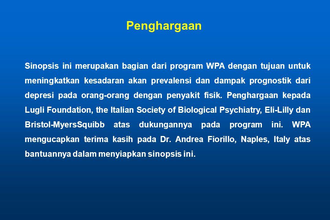 Sinopsis ini merupakan bagian dari program WPA dengan tujuan untuk meningkatkan kesadaran akan prevalensi dan dampak prognostik dari depresi pada oran