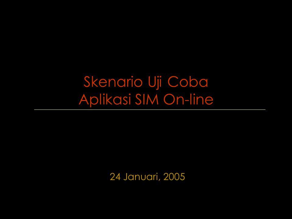 Skenario Uji Coba Aplikasi SIM On-line 24 Januari, 2005