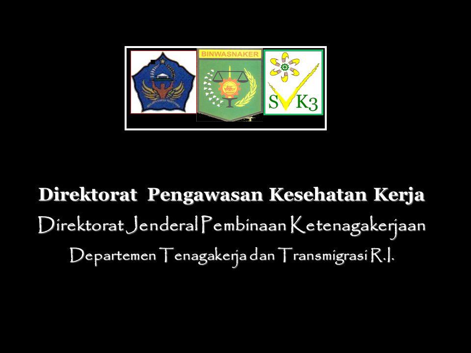 Direktorat Pengawasan Kesehatan Kerja Direktorat Jenderal Pembinaan Ketenagakerjaan Departemen Tenagakerja dan Transmigrasi R.I.