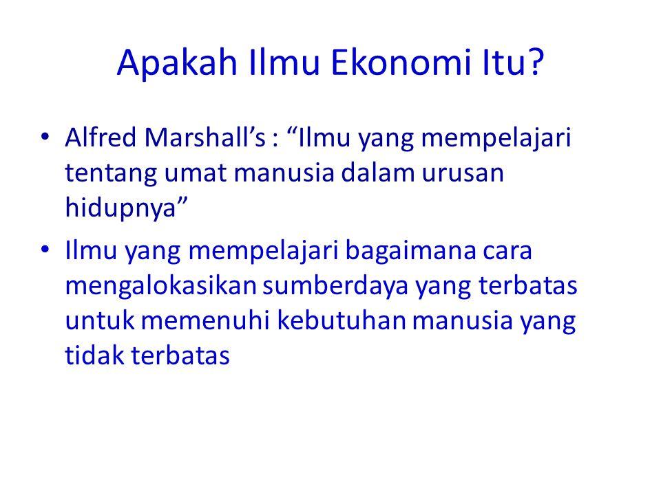 Apakah Ilmu Ekonomi Itu.