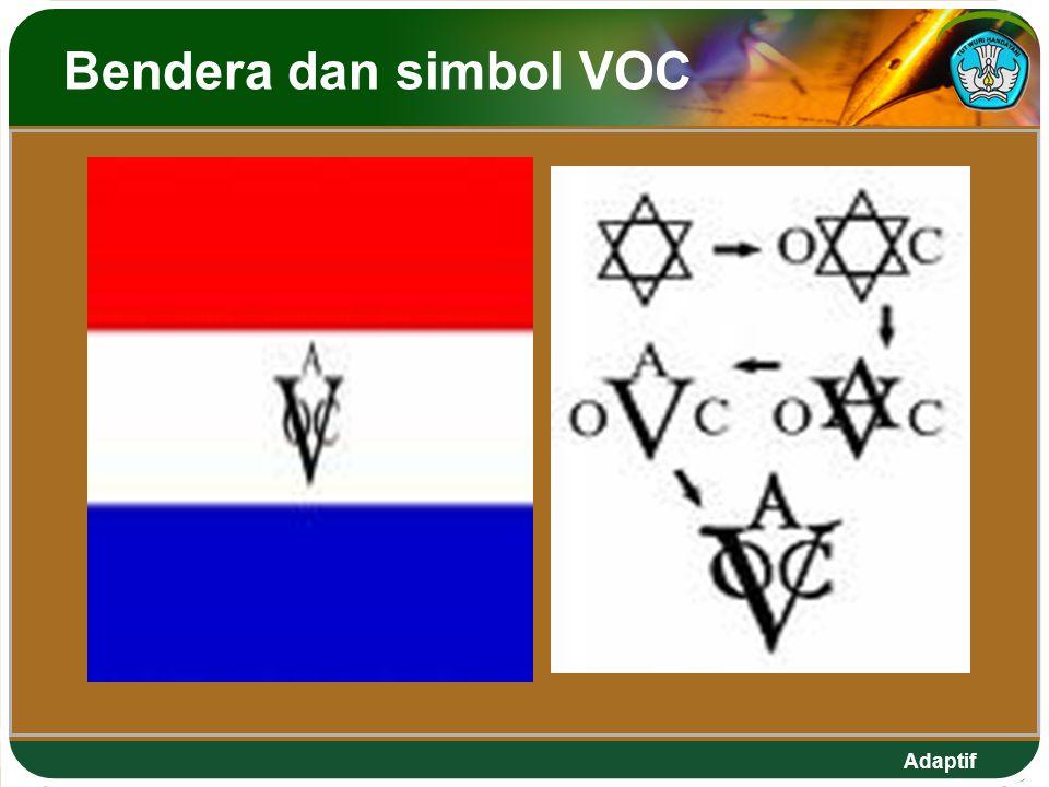 Adaptif Bendera dan simbol VOC