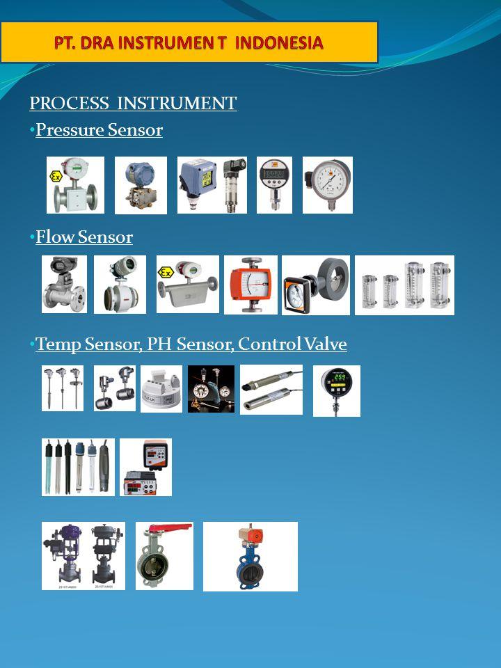 PROCESS INSTRUMENT • Pressure Sensor • Flow Sensor • Temp Sensor, PH Sensor, Control Valve