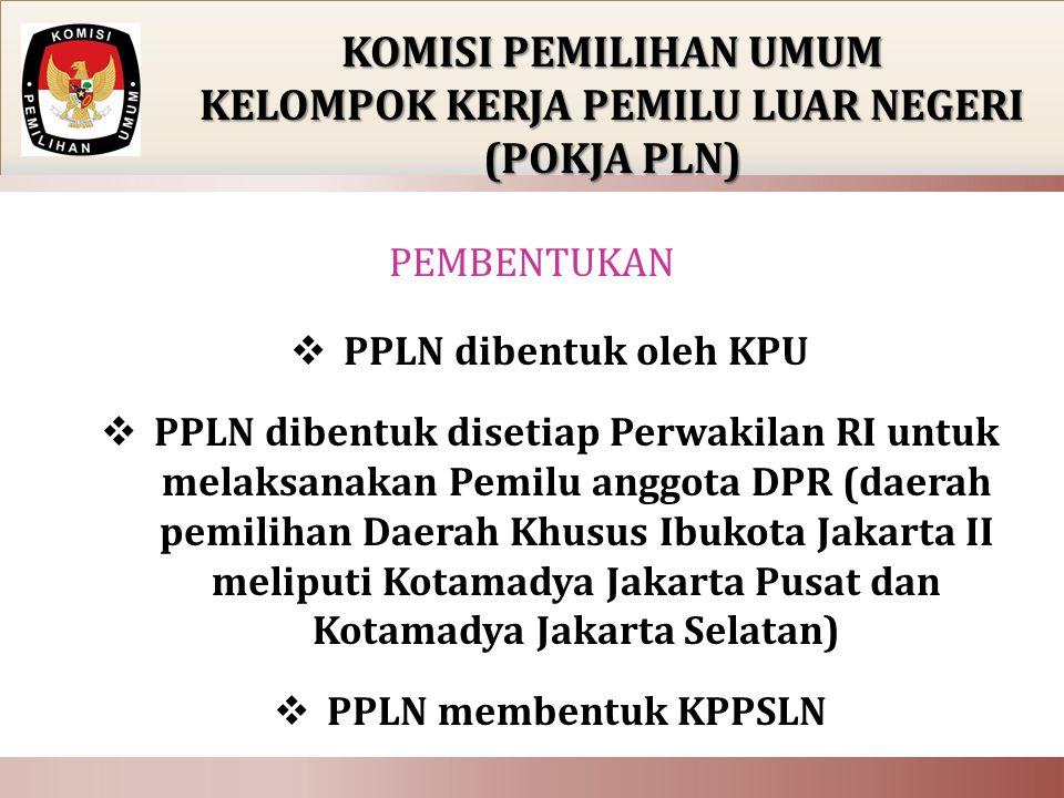 o Rapat PPLN dilaksanakan sesuai keperluan, atas undangan ketua PPLN; o Bahan/materi rapat sudah disampaikan kepada anggota 1 (satu) hari sebelum pelaksanaan rapat.