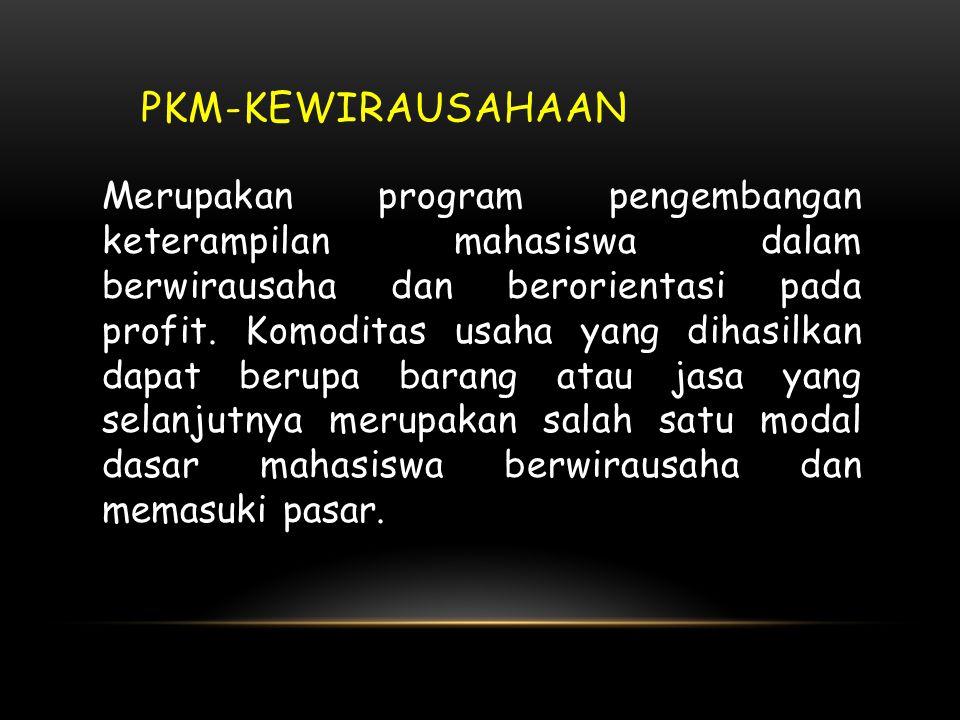 • PKMP dapat menghasilkan teknologi baru • PKMT: menciptakan suatu karya teknologi • Pada PKMT tidak ada lagi penelitian karena teknologi sudah tersed