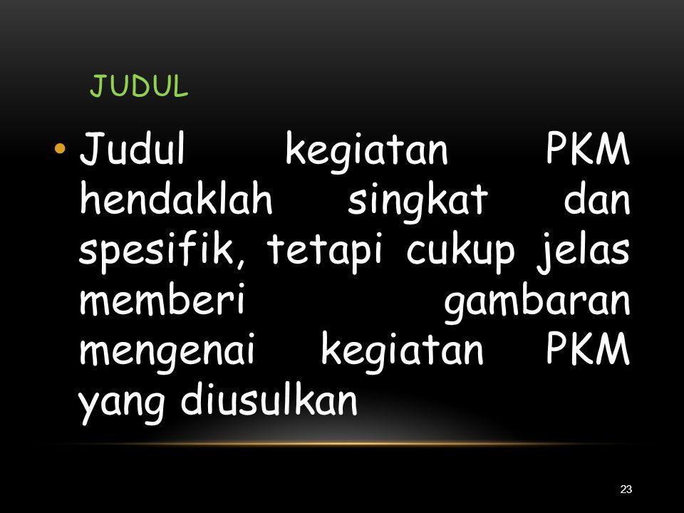 KISAH MENEMUKAN JUDUL PKM 22