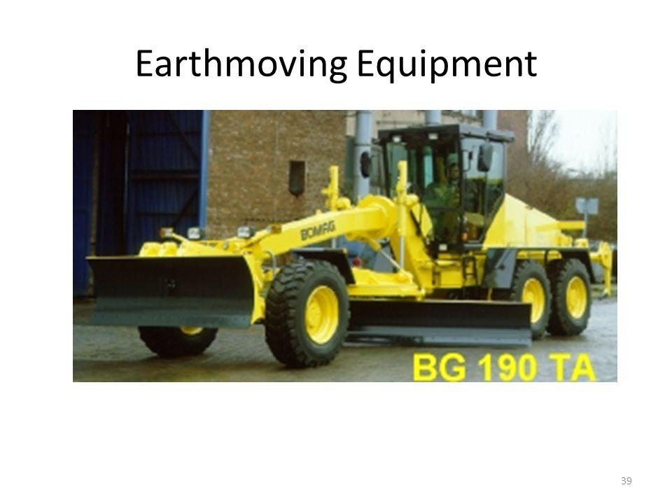 Earthmoving Equipment 39 Grader for spreading soil