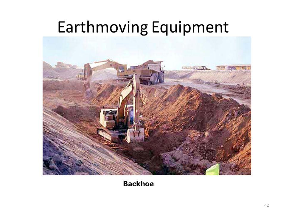 Earthmoving Equipment 42 Backhoe