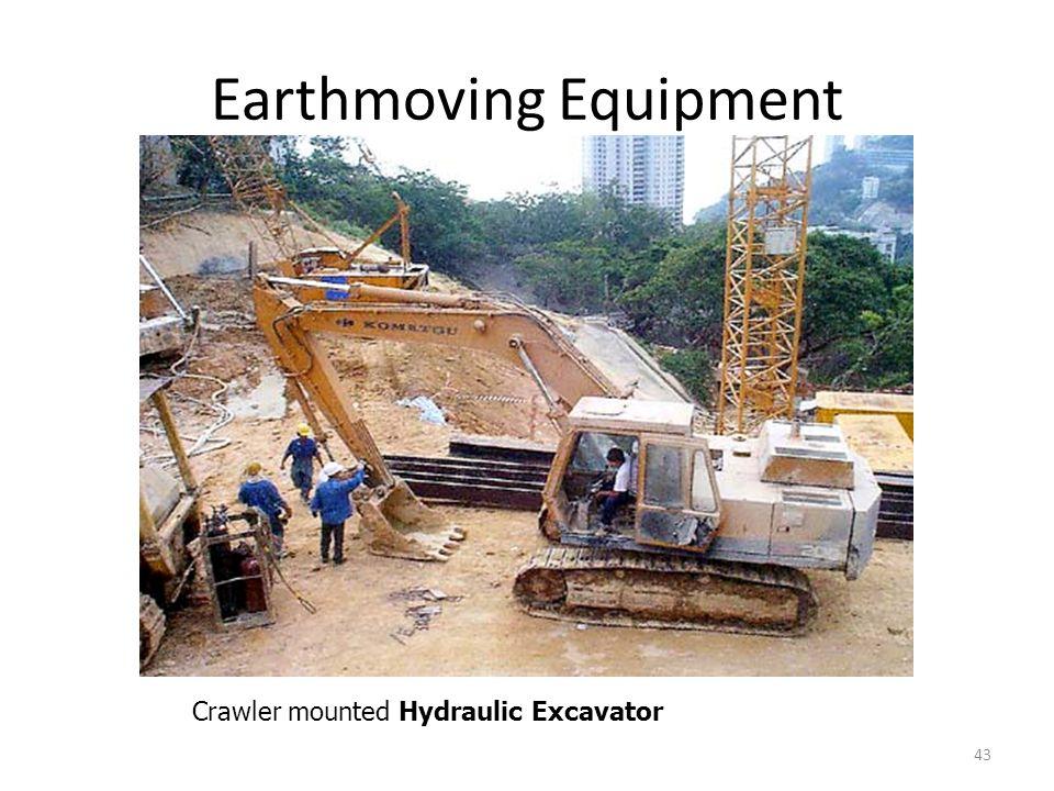 Earthmoving Equipment 43 Crawler mounted Hydraulic Excavator