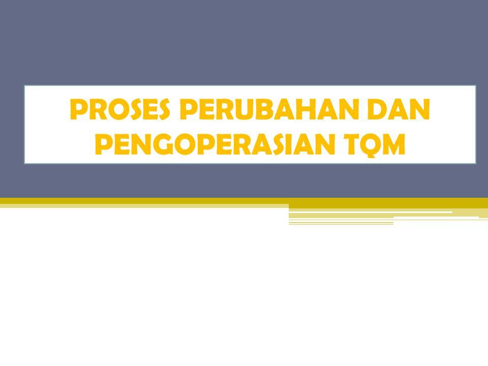 Implementasi TQM Jika perusahaan telah memutuskan untuk mengimplementasikan program TQM, maka perencanaannya harus dilakukan oleh menajemen puncak dan informasikan kepada seluruh karyawan.