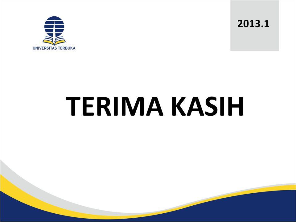 TERIMA KASIH 2013.1