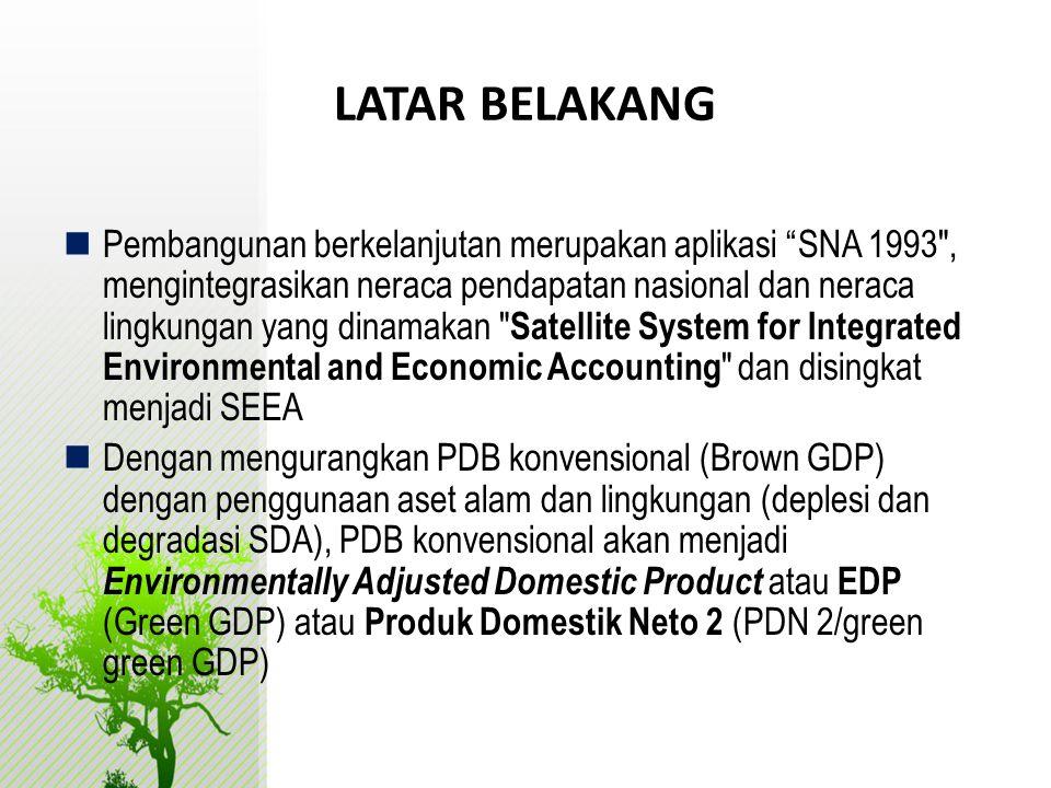 " Pembangunan berkelanjutan merupakan aplikasi ""SNA 1993"
