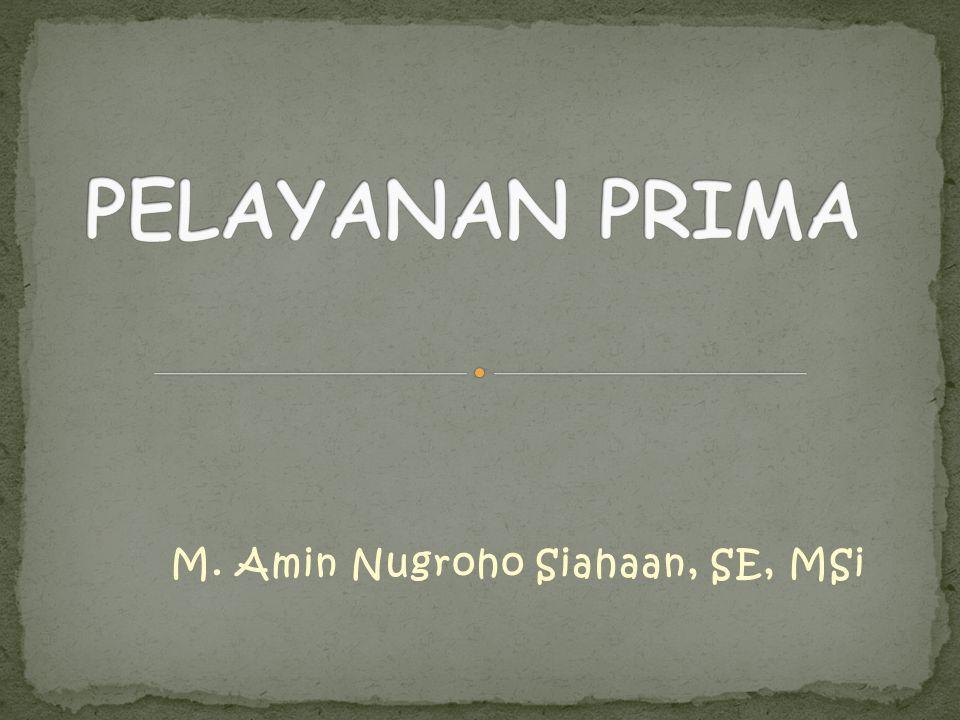 M. Amin Nugroho Siahaan, SE, MSi