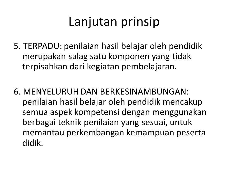 Lanjutan prinsip 5.