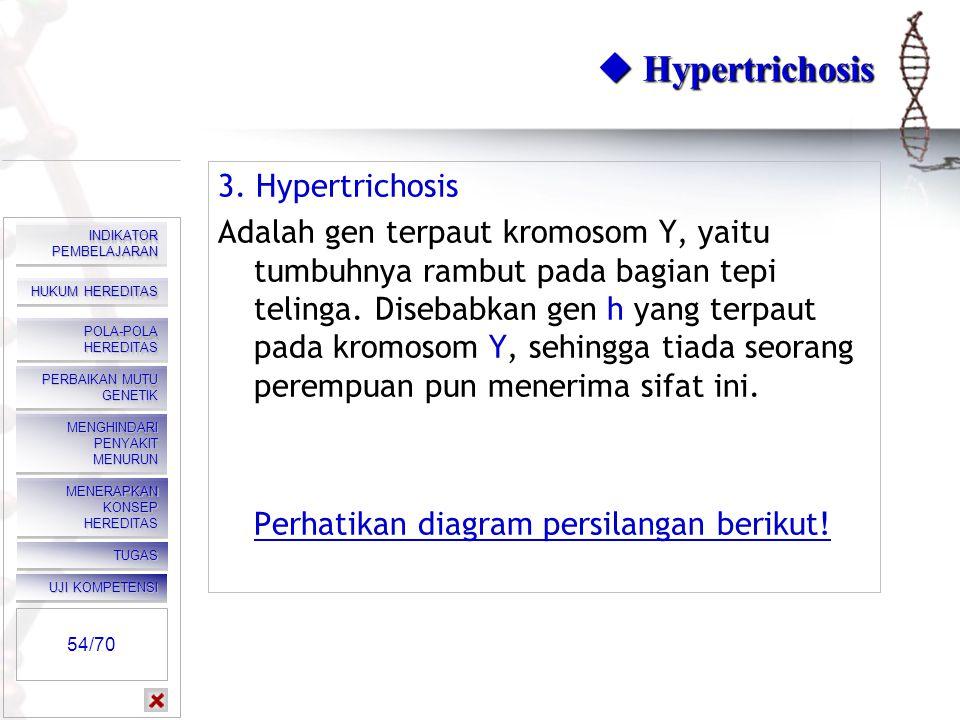  Diagram hemofilia Klik kanan, klik play. 53/70 HUKUM HEREDITAS HUKUM HEREDITAS HUKUM HEREDITAS HUKUM HEREDITAS POLA-POLA HEREDITAS POLA-POLA HEREDIT