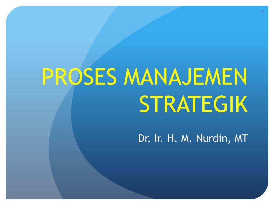 PROSES MANAJEMEN STRATEGIK Dr. Ir. H. M. Nurdin, MT 1