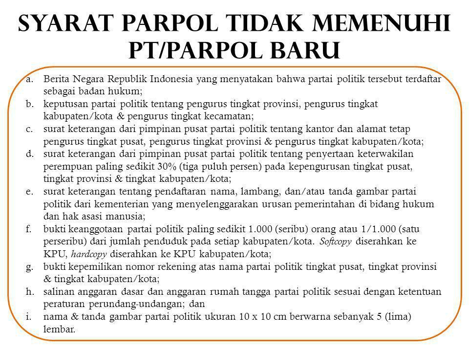 Simulasi METODE SENSUS Parpol menyerahkan syarat keanggotaan sebanyak 100, KPU Kab/Kota melakukan verifikasi faktual terhadap seluruh keanggotaan parpol tersebut.
