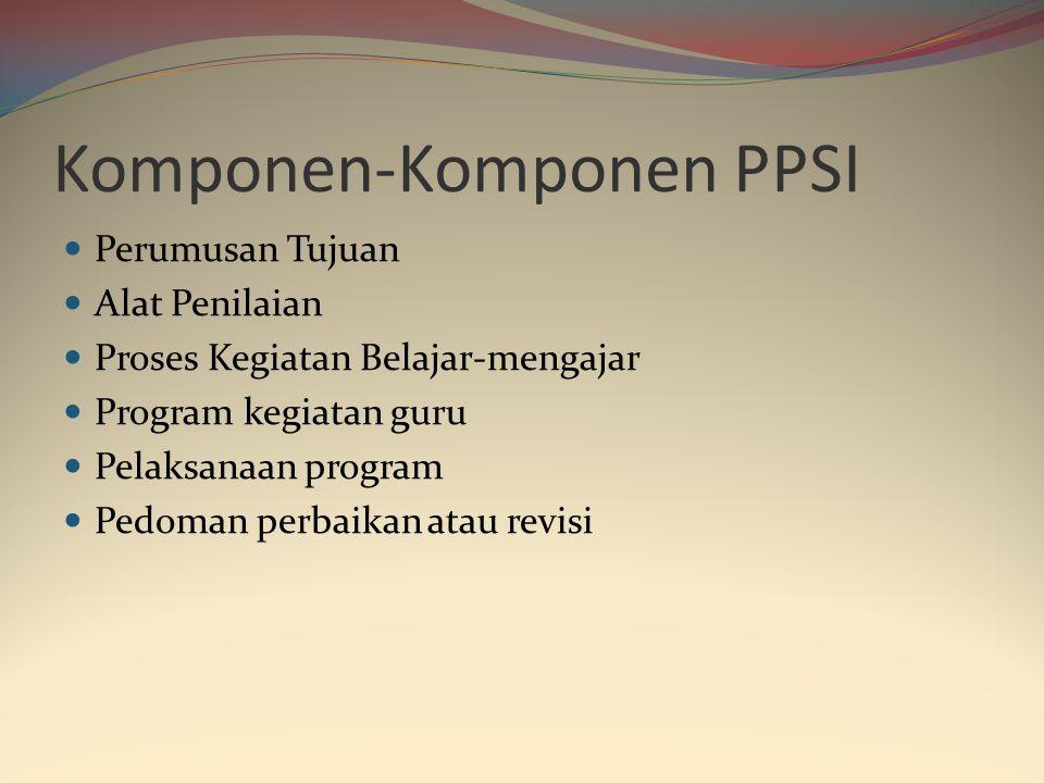 Prosedur Pengembangan Sistem Instruksional (PPSI)  PPSI adalah suatu pedoman yang disusun oleh guru dan bermanfat untuk menyusun satuan pengajaran at