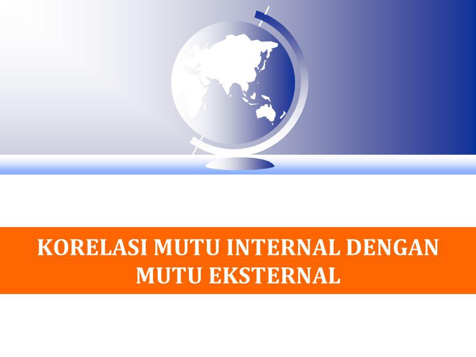KORELASI MUTU INTERNAL DENGAN MUTU EKSTERNAL