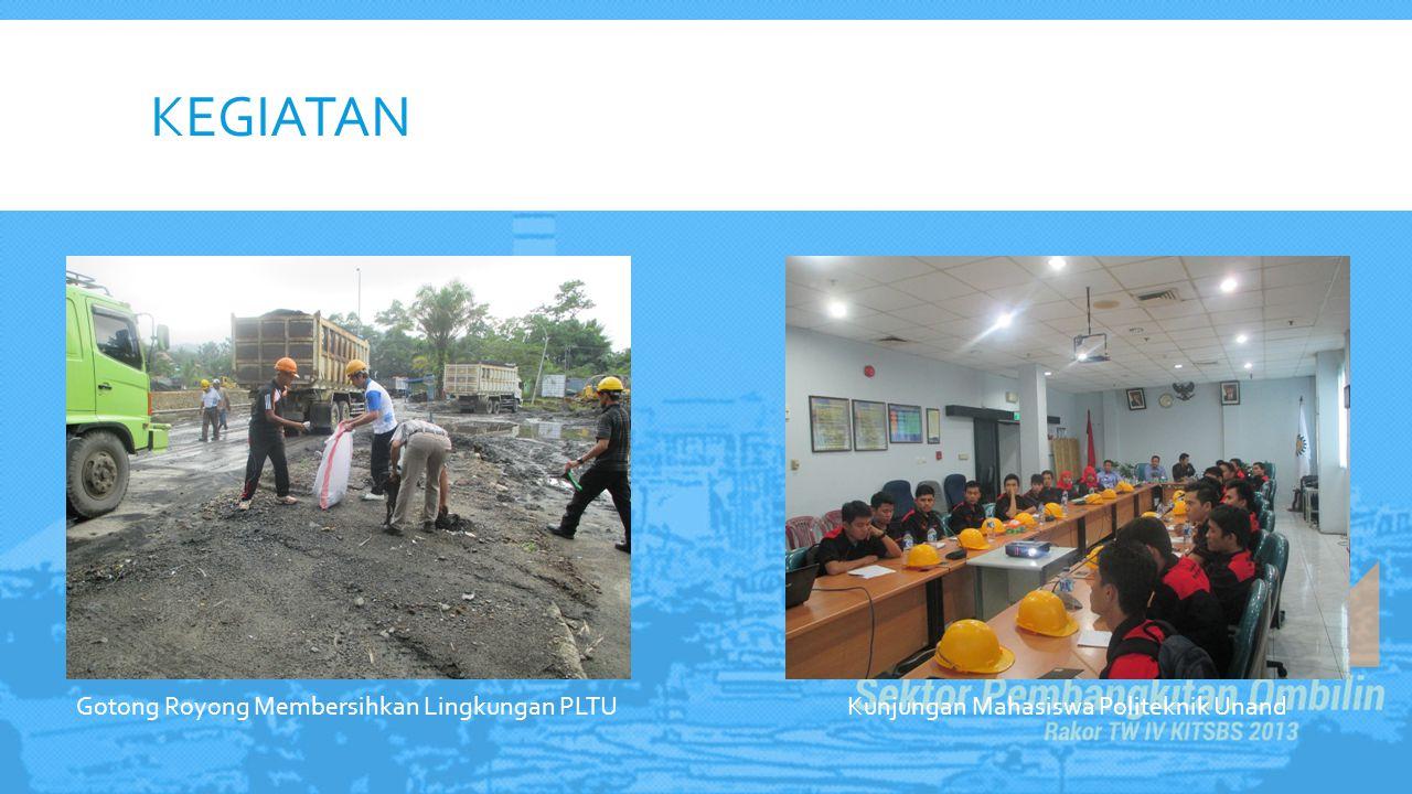 KEGIATAN Gotong Royong Membersihkan Lingkungan PLTU Kunjungan Mahasiswa Politeknik Unand