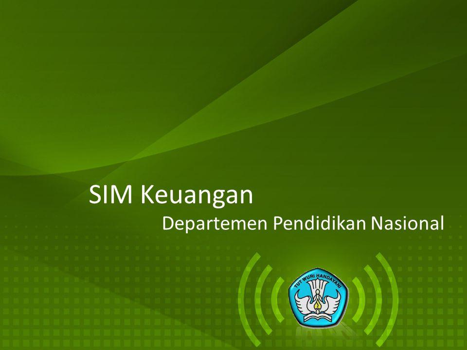SIM Keuangan Departemen Pendidikan Nasional