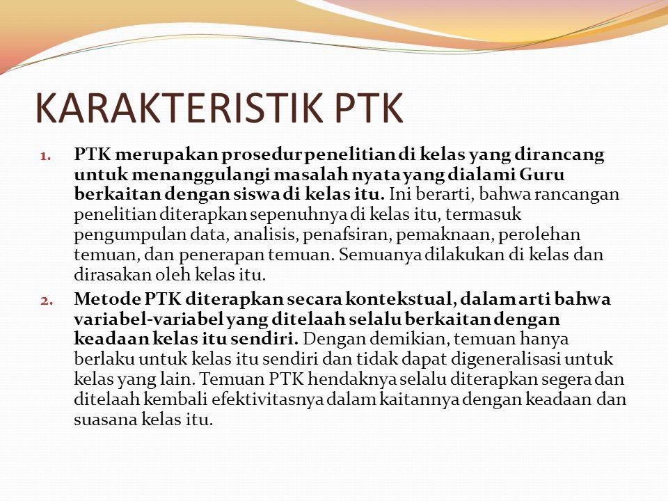 KARAKTERISTIK PTK lanjutan 3.