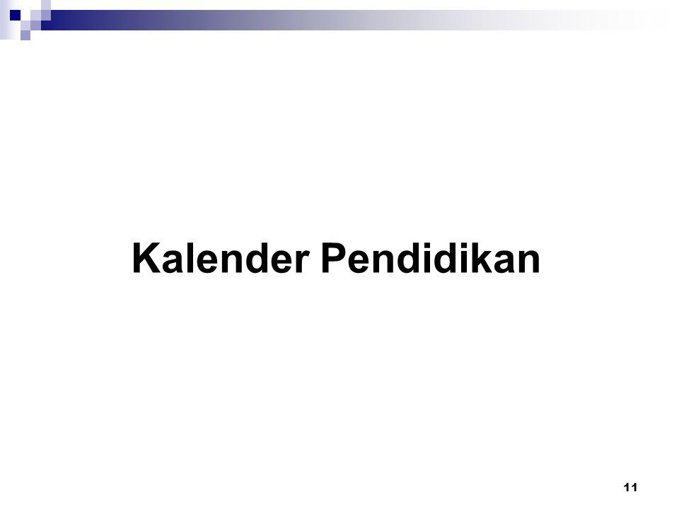 11 Kalender Pendidikan