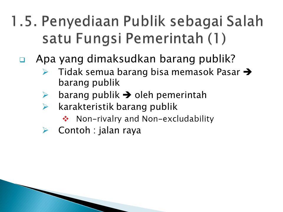  Apa yang dimaksudkan barang publik.