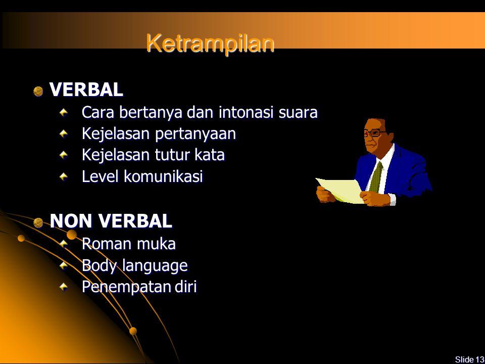 Slide 12 Pengetahuan Prosedur, alat dan metodologi audit Dokumen sistem manajemen Situasi sekolah atau bagian yang diaudit Perundang-undangan, peratur