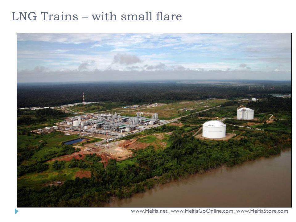 LNG Trains – with small flare www.Helfia.net, www.HelfiaGoOnline.com, www.HelfiaStore.com