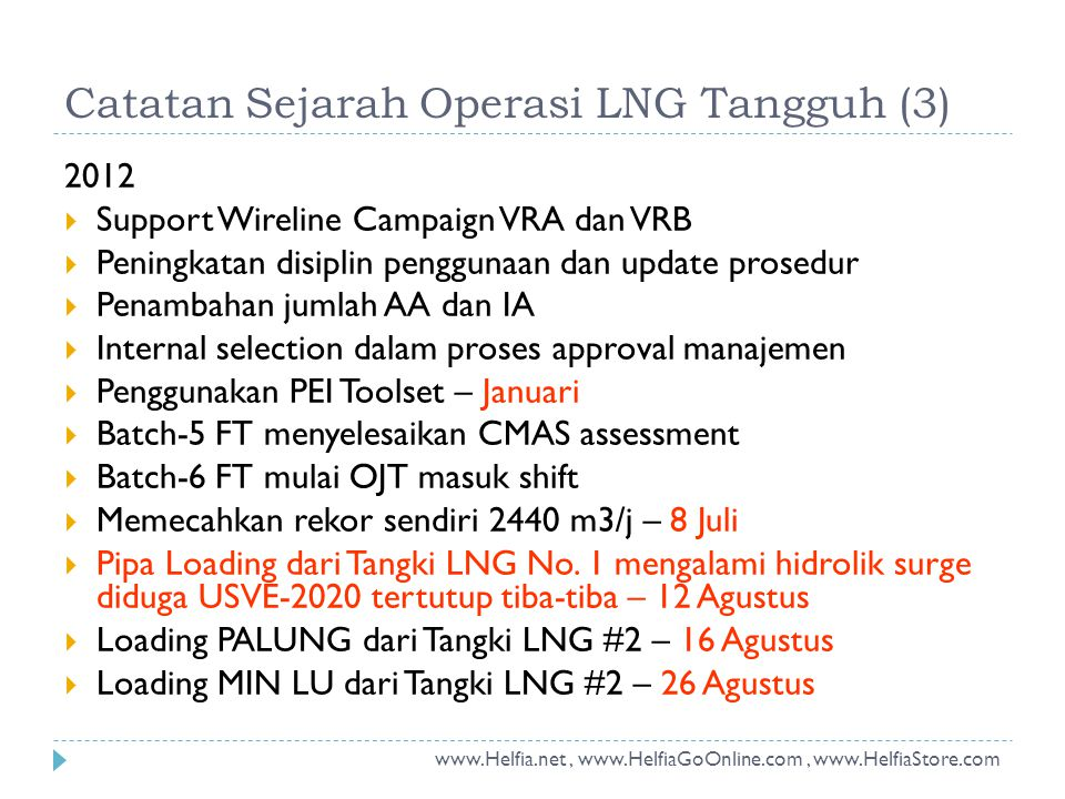 2012  Support Wireline Campaign VRA dan VRB  Peningkatan disiplin penggunaan dan update prosedur  Penambahan jumlah AA dan IA  Internal selection