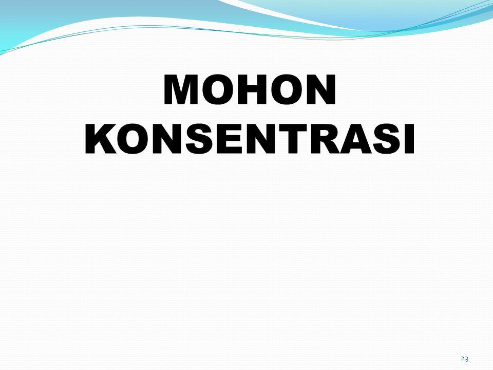 23 MOHON KONSENTRASI
