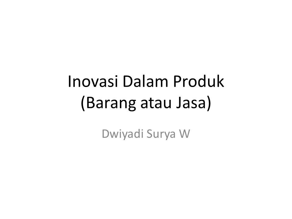 Inovasi Dalam Produk (Barang atau Jasa) Dwiyadi Surya W