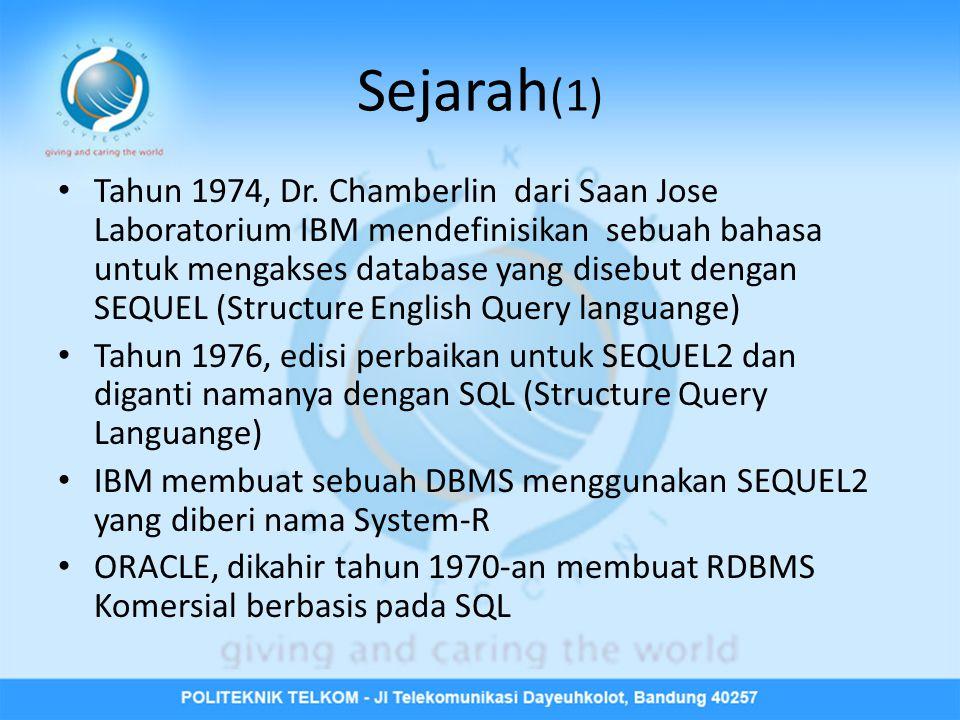 Sejarah (1) • Tahun 1974, Dr.