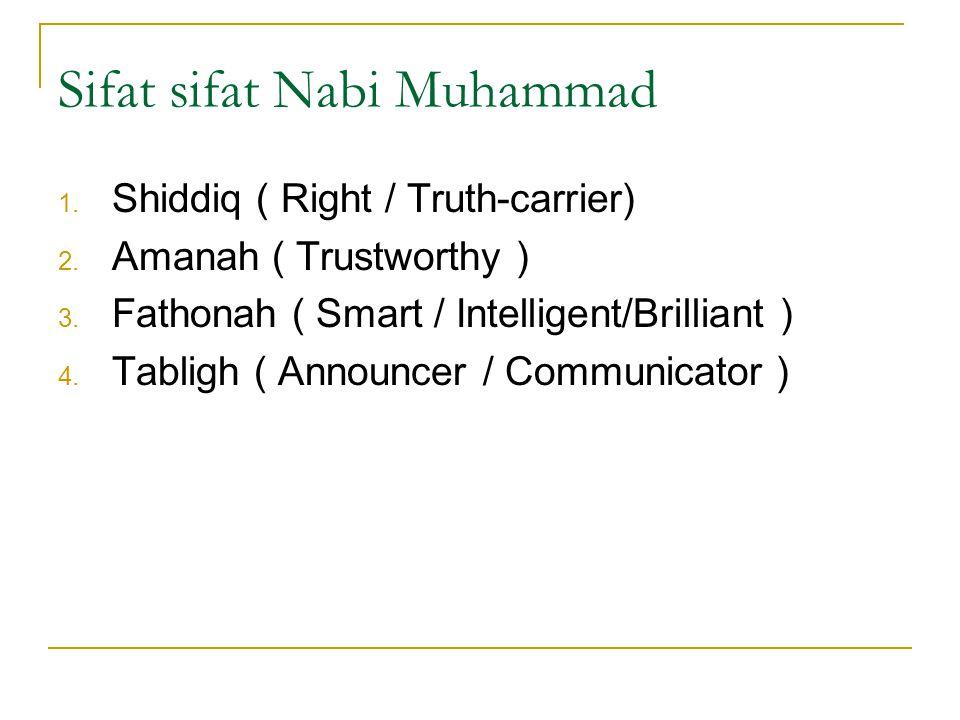 Perubahan dalam dialektika Islam  Sabda Nabi :  Barang siapa yang hari ini lebih baik dari pada hari kemarin berarti orang yang beruntung  Barang s