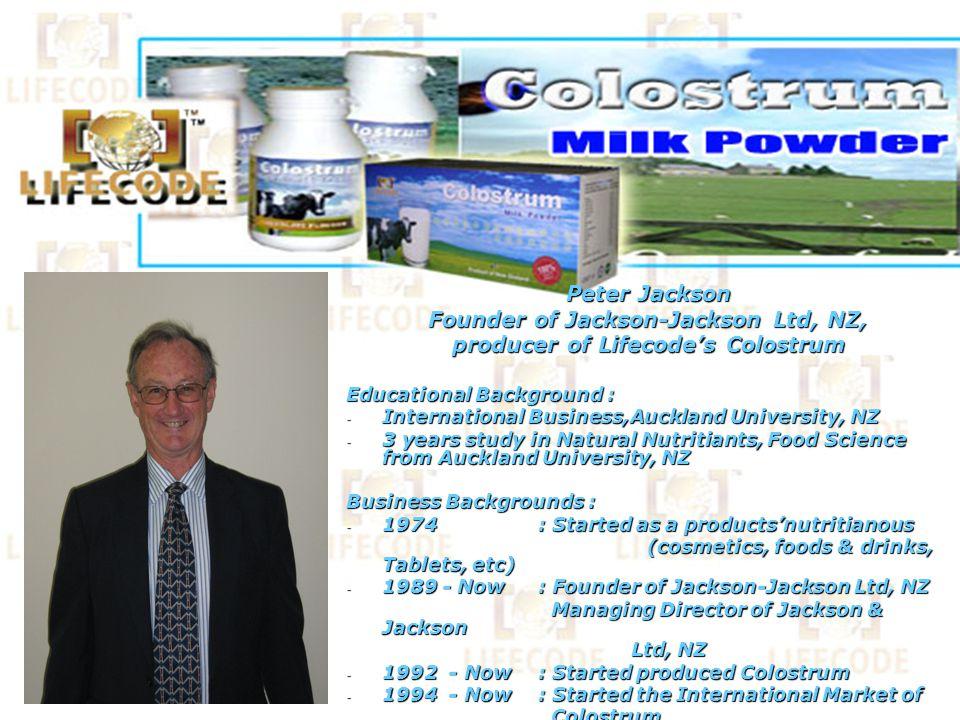 Jackson-Jackson Limited, Unit 3, 9-11 Rothwell Avenue, Albany, Auckland, NZ Sertifikat : ISO 9001 (1994), ISO 14001(1996), serta sertifikat halal internasional