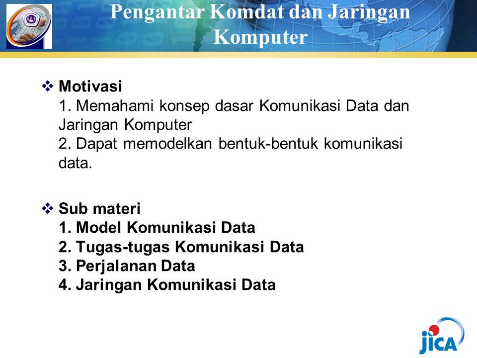 Pengantar Komdat dan Jaringan Komputer  Motivasi 1.
