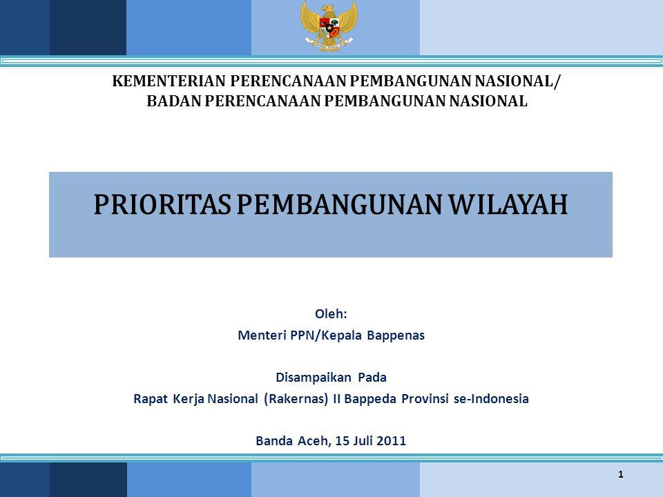 KEMENTERIAN PPN/ BAPPENAS Prioritas Pengembangan Wilayah Maluku 22