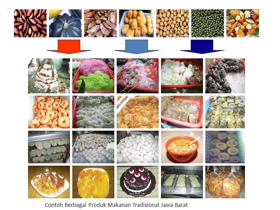 - Contoh Berbagai Produk Makanan Tradisional Jawa Barat