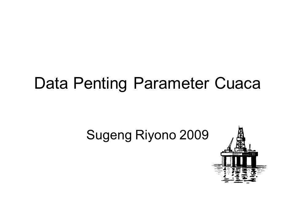 Data Penting Parameter Cuaca Sugeng Riyono 2009