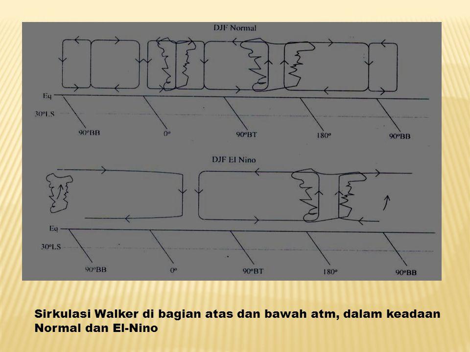 Sirkulasi Walker di bagian atas dan bawah atm, dalam keadaan Normal dan El-Nino