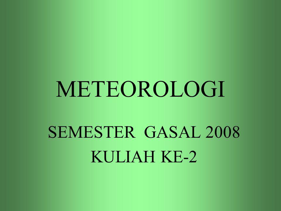 METEOROLOGI SEMESTER GASAL 2008 KULIAH KE-2