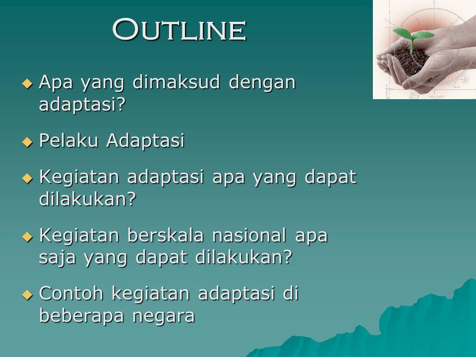 Outline  Apa yang dimaksud dengan adaptasi.