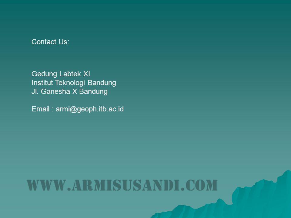 Contact Us: Gedung Labtek XI Institut Teknologi Bandung Jl.