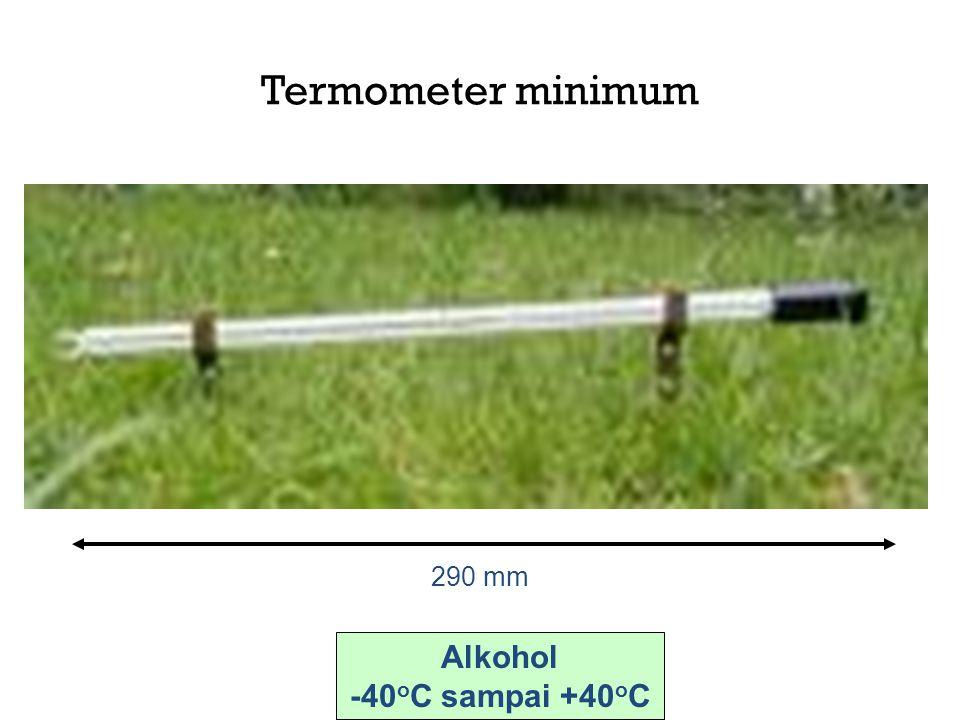 Termometer minimum 290 mm Alkohol -40 o C sampai +40 o C