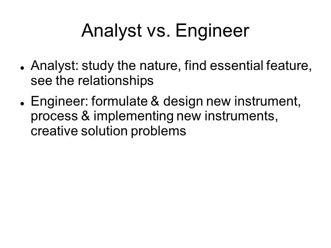 Analyst vs.