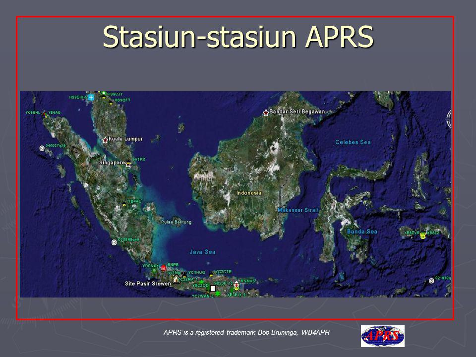 APRS is a registered trademark Bob Bruninga, WB4APR Terima Kasih