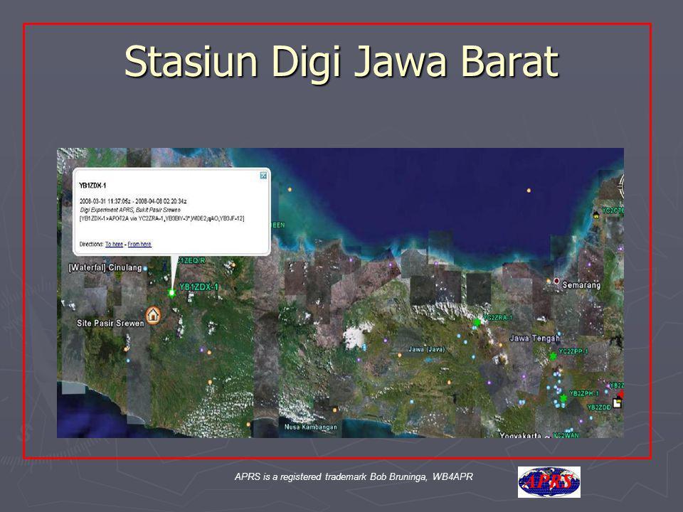 APRS is a registered trademark Bob Bruninga, WB4APR Stasiun Digi Jawa Barat