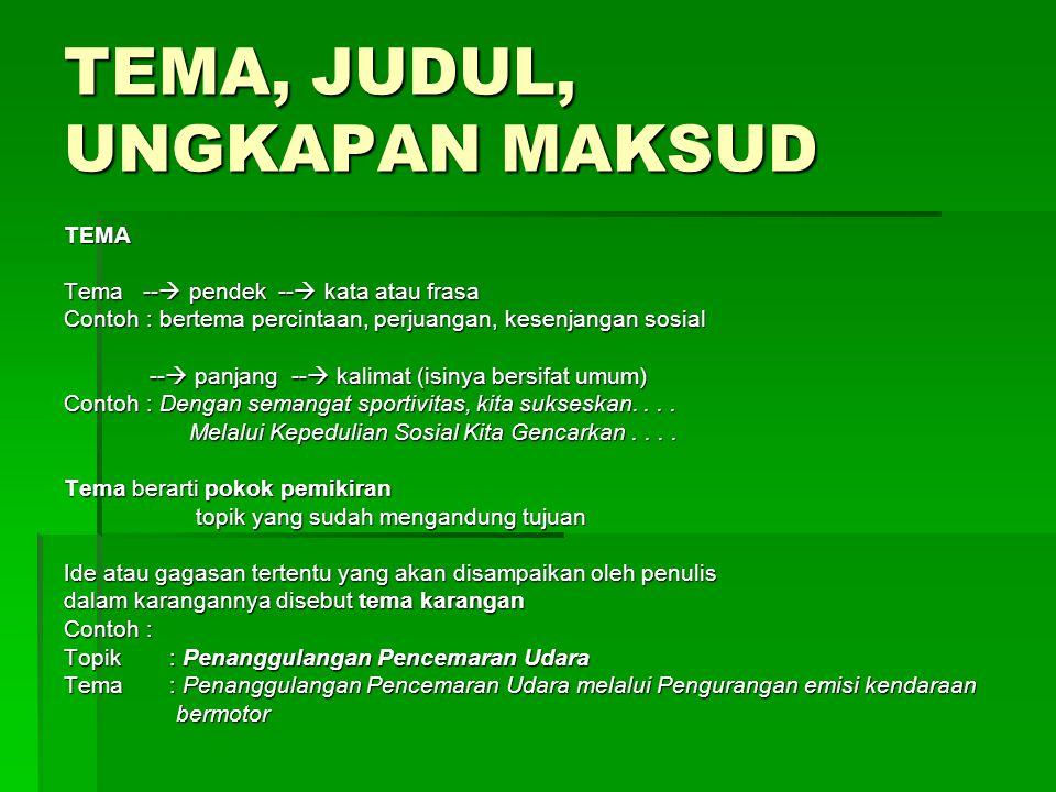 Contoh tahap-tahap pembuatan KK Judul: Penanggulangan Dampak Limbah Industri Tekstil di Limbah Industri Tekstil di Bandung Selatan Bandung Selatan Tujuan: Menemukan cara yang efektif dan efisien untuk menanggulangi dampak Limbah industri di Bandung Selatan.