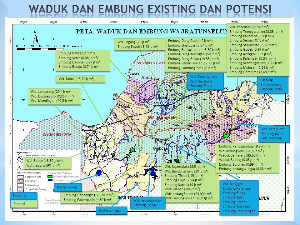Wd.Jatibarang (20,4 jt m 3 ) Wd. Diponegoro (0,05 jt m 3 ) Wd.